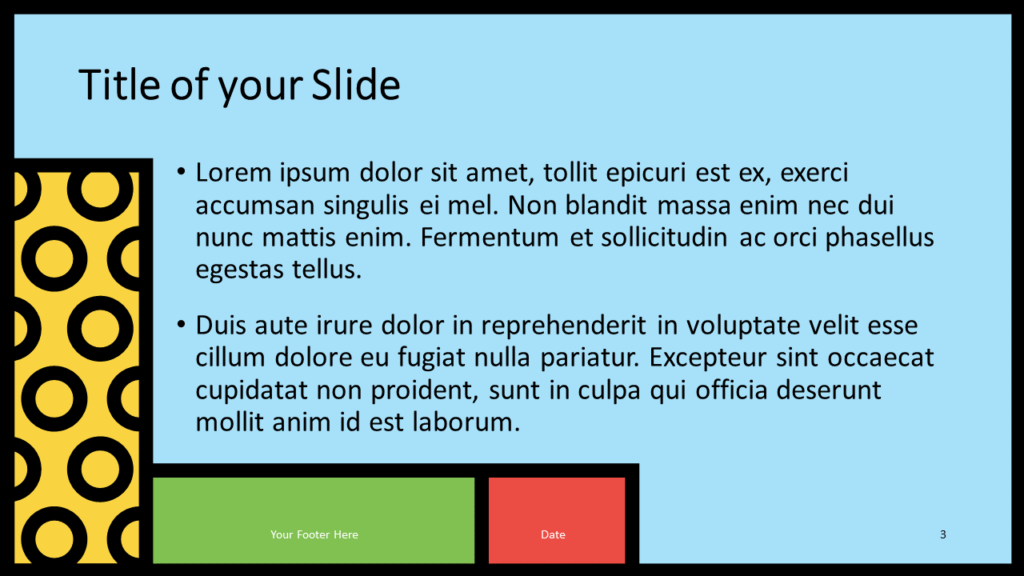 Free Mondrian Pop Art Template for Google Slides – Title and Content Slide (Variant 2)