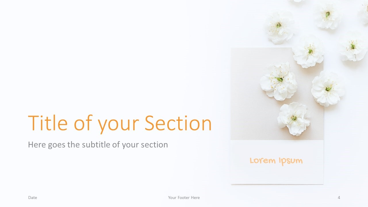 Free Color Cards and Flowers Template for Google Slides – Section Slide (Variant 1)