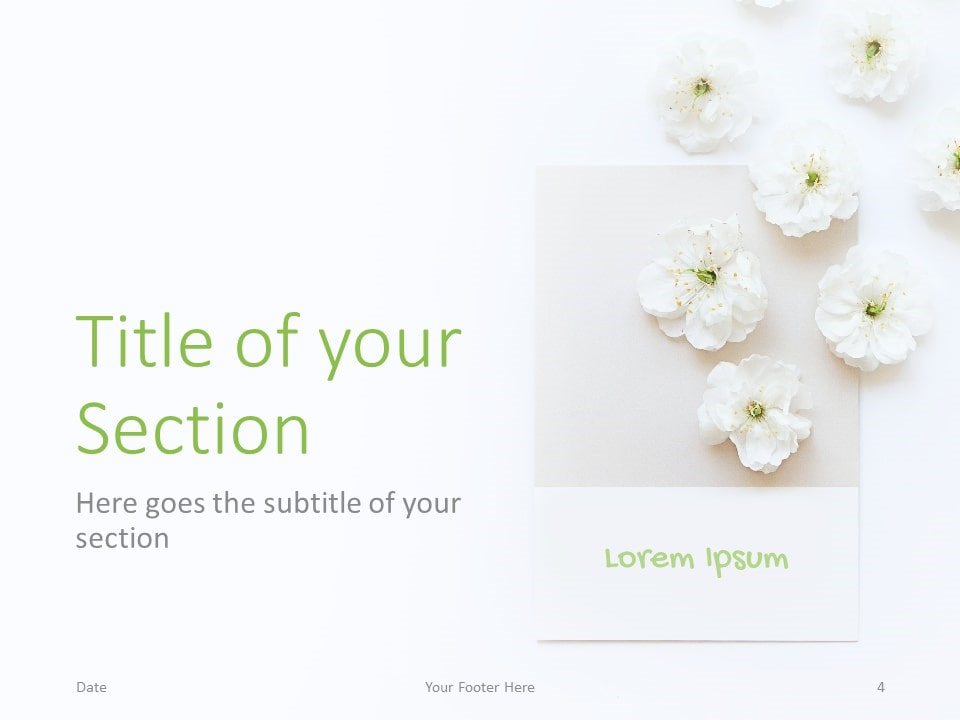 Free Color Cards and Flowers Template for PowerPoint – Section Slide (Variant 1)