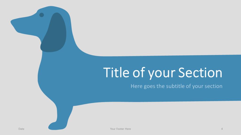 Free Sausage Dog Template for Google Slides – Section Slide (Variant 1)