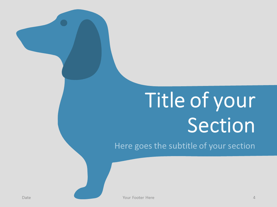 Free Sausage Dog Template for PowerPoint – Section Slide (Variant 1)