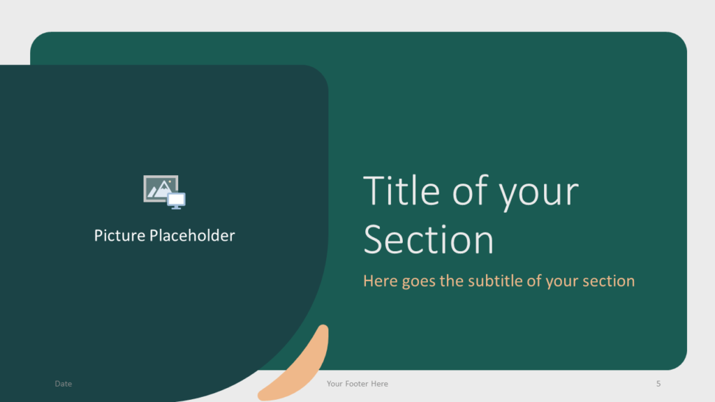 Free Green Rounded Abstract Template for Google Slides – Section Slide (Variant 2)