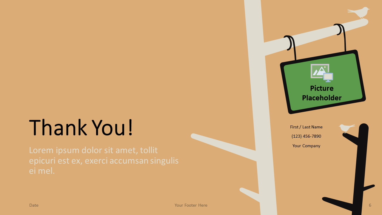 Free Birds Template for Google Slides - Closing / Thank you