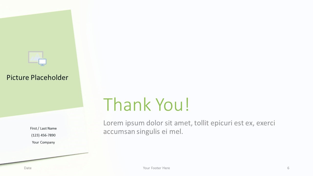 Free Color Cards and Flowers Template for Google Slides - Closing / Thank you