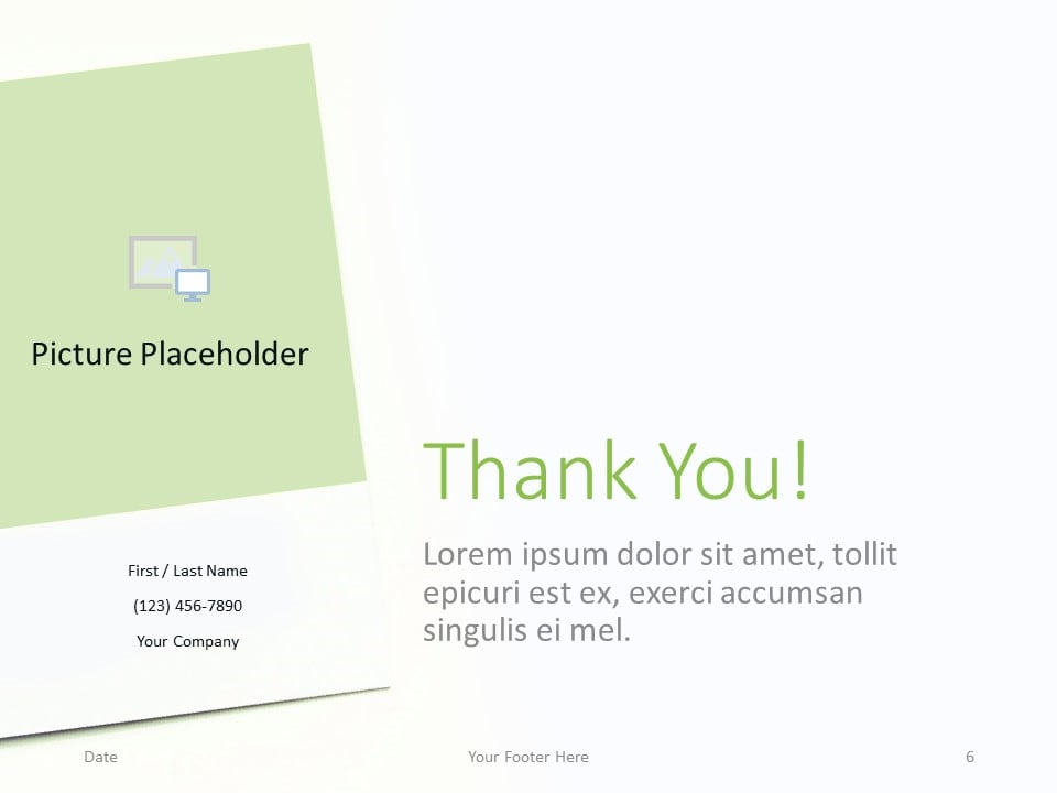 Free Color Cards and Flowers Template for PowerPoint - Closing / Thank you