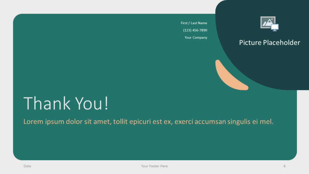 Free Green Rounded Abstract Template for Google Slides - Closing / Thank you