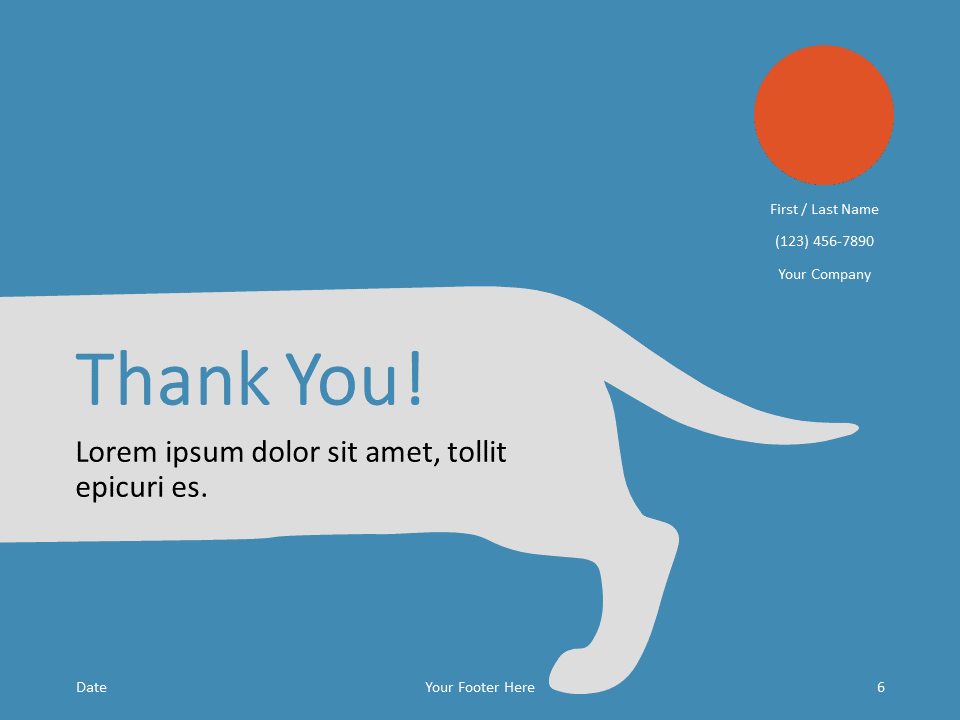Free Sausage Dog Template for PowerPoint - Closing / Thank you
