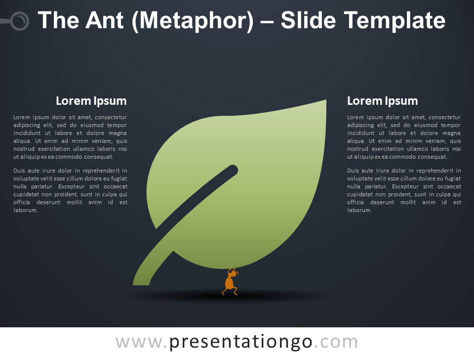 Free The Ant (Metaphor) Infographic for PowerPoint