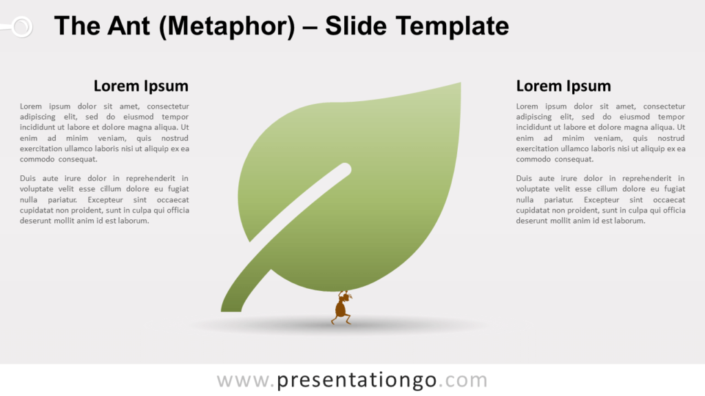 Free The Ant (Metaphor) for PowerPoint and Google Slides
