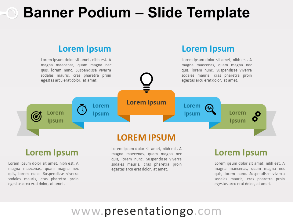 Free Banner Podium for PowerPoint