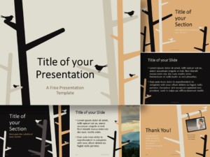 Free Birds Template for PowerPoint and Google Slides