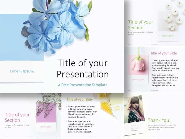 Free Color Cards and Flowers Template for PowerPoint and Google Slides
