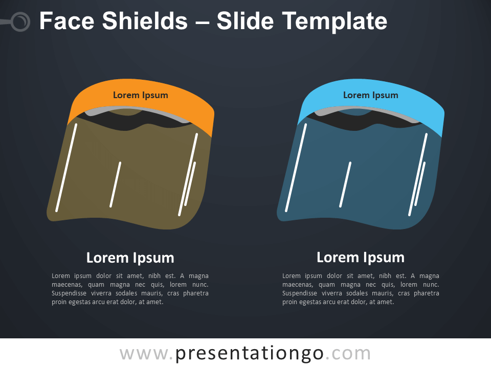 Free Face Shields Infographic for PowerPoint