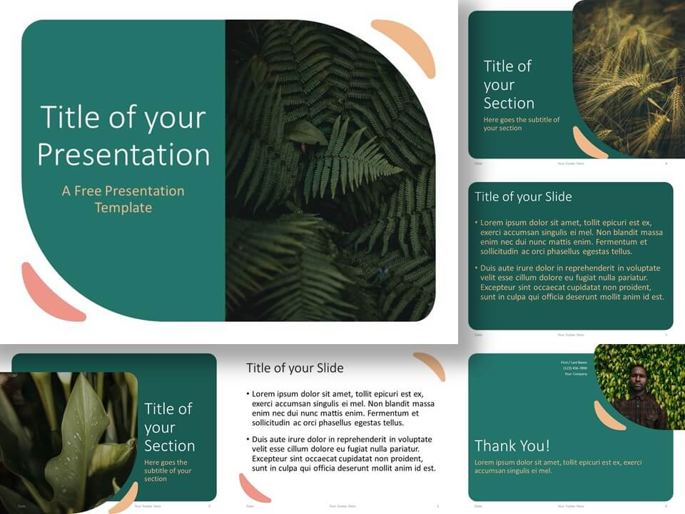Free Green Rounded Abstract Template for PowerPoint and Google Slides
