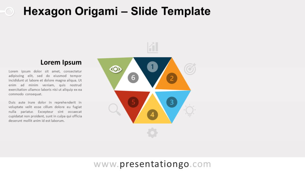 Free Hexagon Origami Chart for PowerPoint and Google Slides