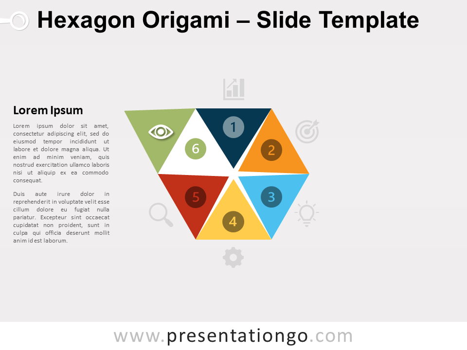 Free Hexagon Origami Chart for PowerPoint