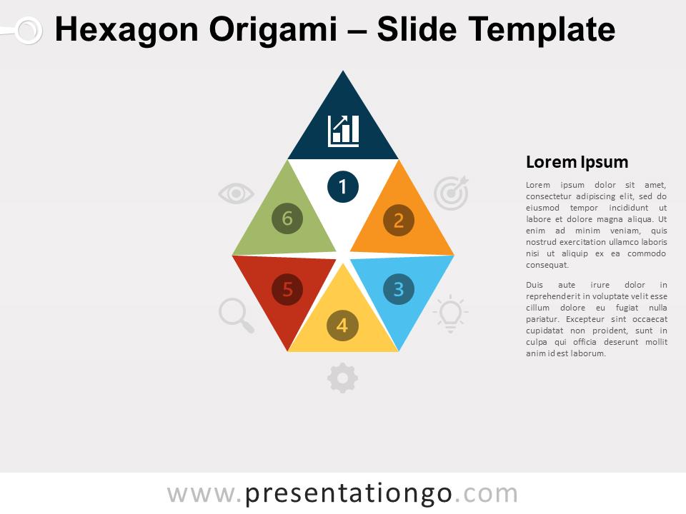 Free Hexagon Origami Diagram for PowerPoint