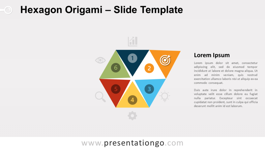 Free Hexagon Origami Infographic for PowerPoint and Google Slides