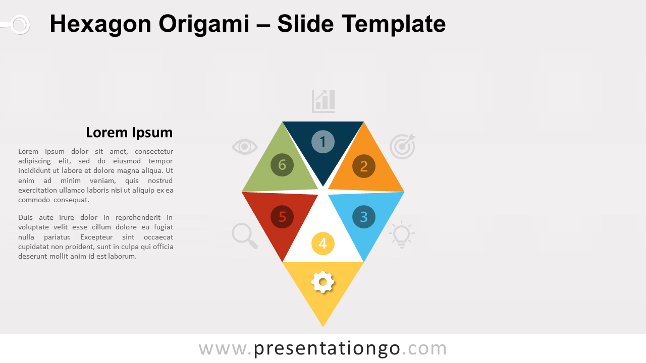 Free Hexagon Origami Template for PowerPoint and Google Slides