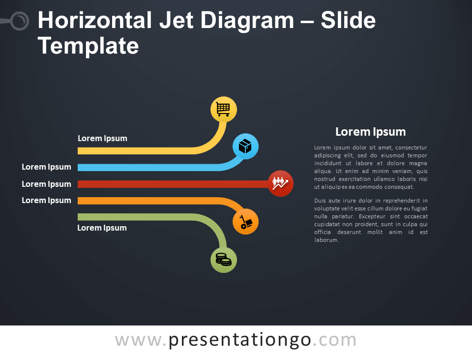 Free Horizontal Jet Diagram Infographic for PowerPoint