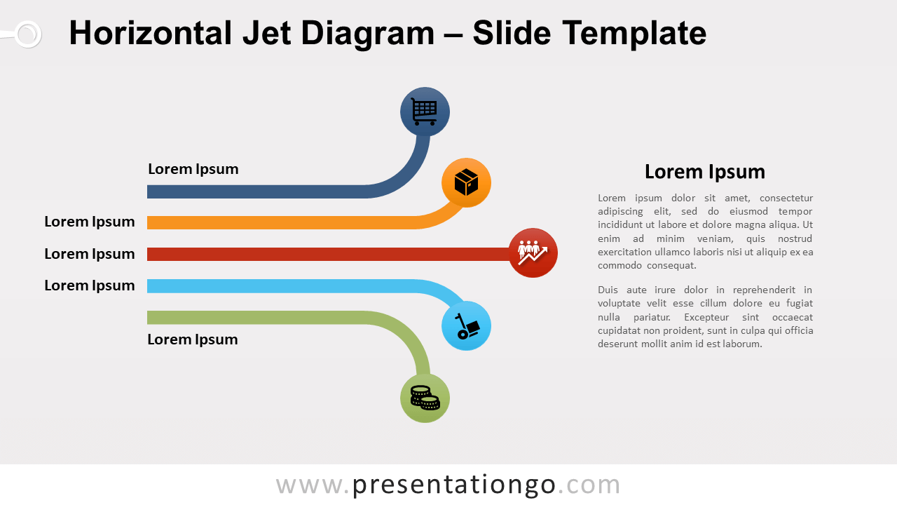 Free Horizontal Jet Diagram for PowerPoint and Google Slides