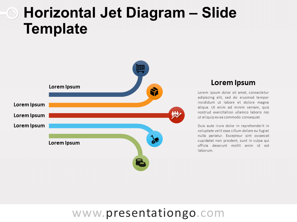 Free Horizontal Jet Diagram for PowerPoint