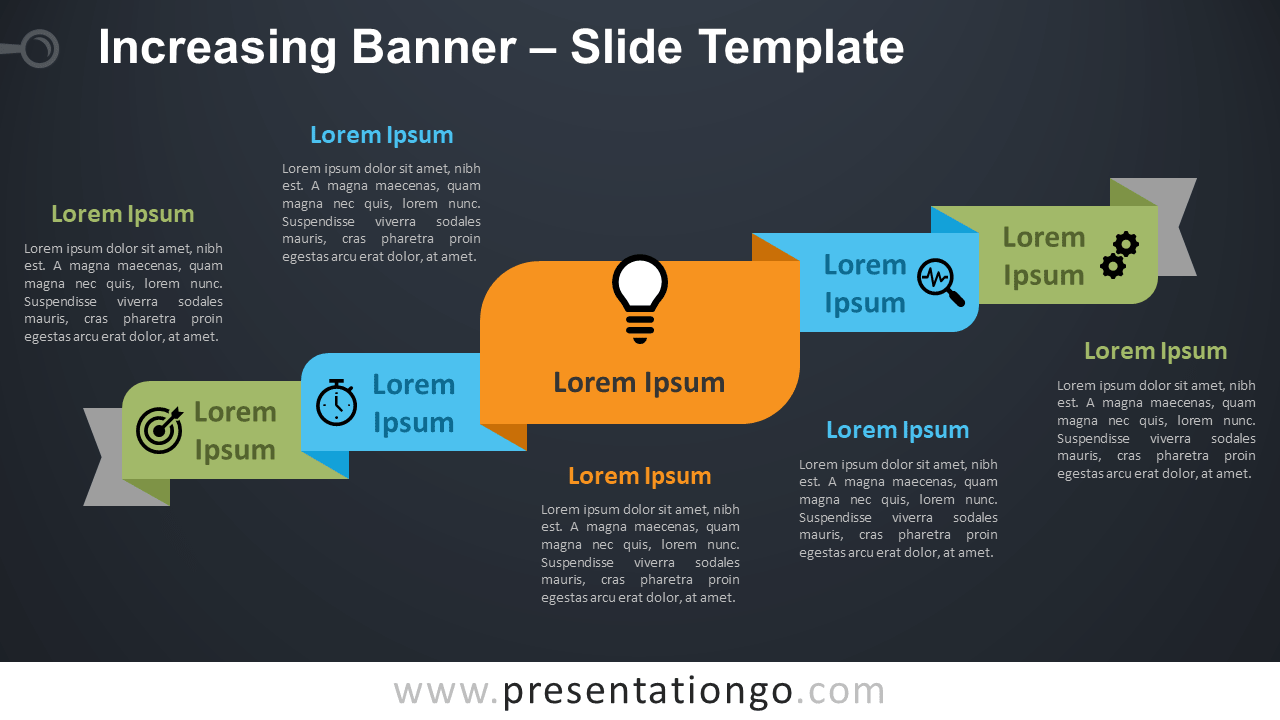 Free Increasing Banner Diagram for PowerPoint and Google Slides