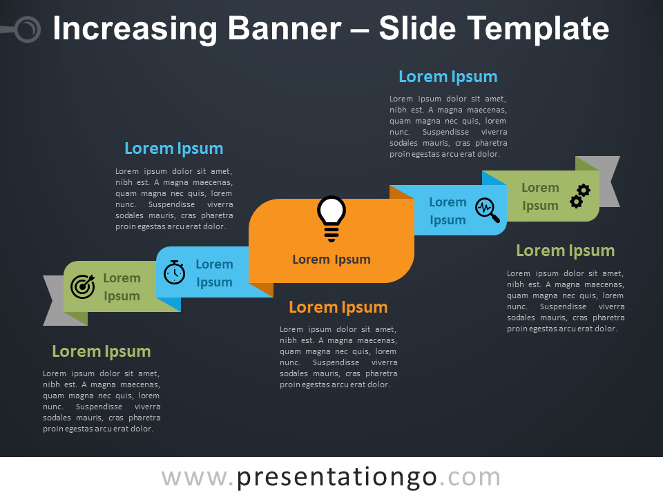 Free Increasing Banner Diagram for PowerPoint
