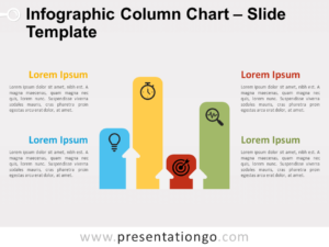Free Infographic Column Chart for PowerPoint