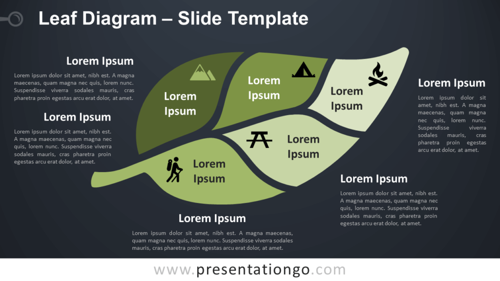 Free Leaf Diagram Infographic for PowerPoint and Google Slides