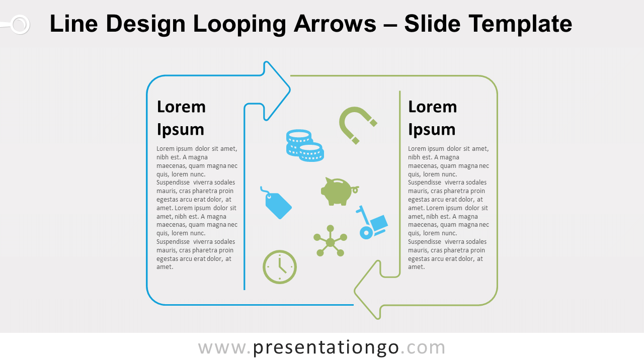 Free Line Design Looping Arrows for PowerPoint and Google Slides
