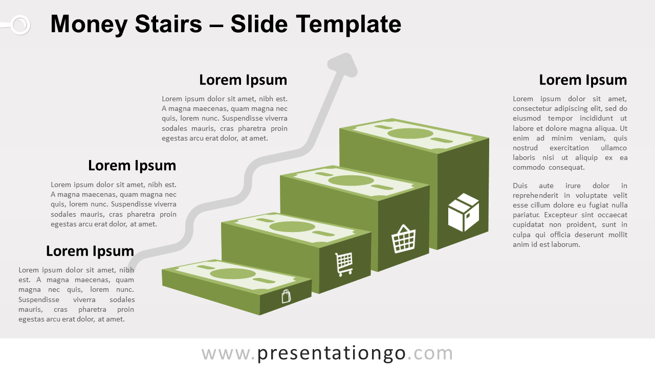 Free Money Stairs for PowerPoint and Google Slides