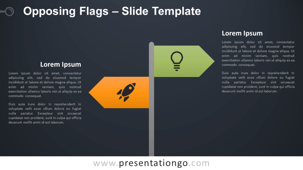 Free Opposing Flags Infographic for PowerPoint and Google Slides