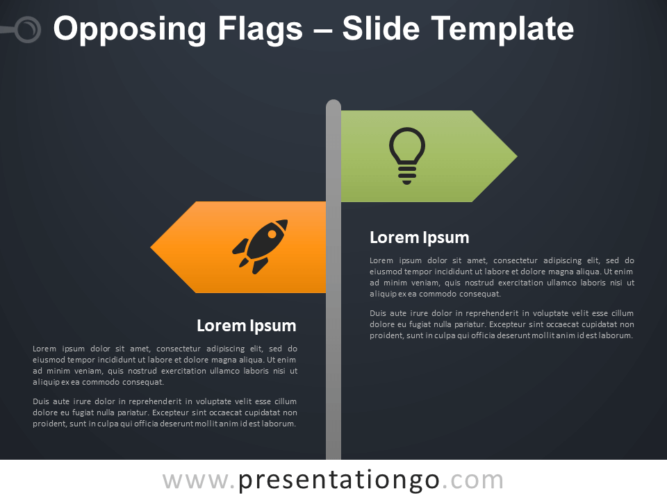 Free Opposing Flags Infographic for PowerPoint
