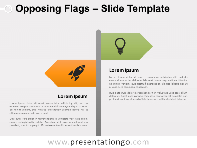 Free Opposing Flags for PowerPoint