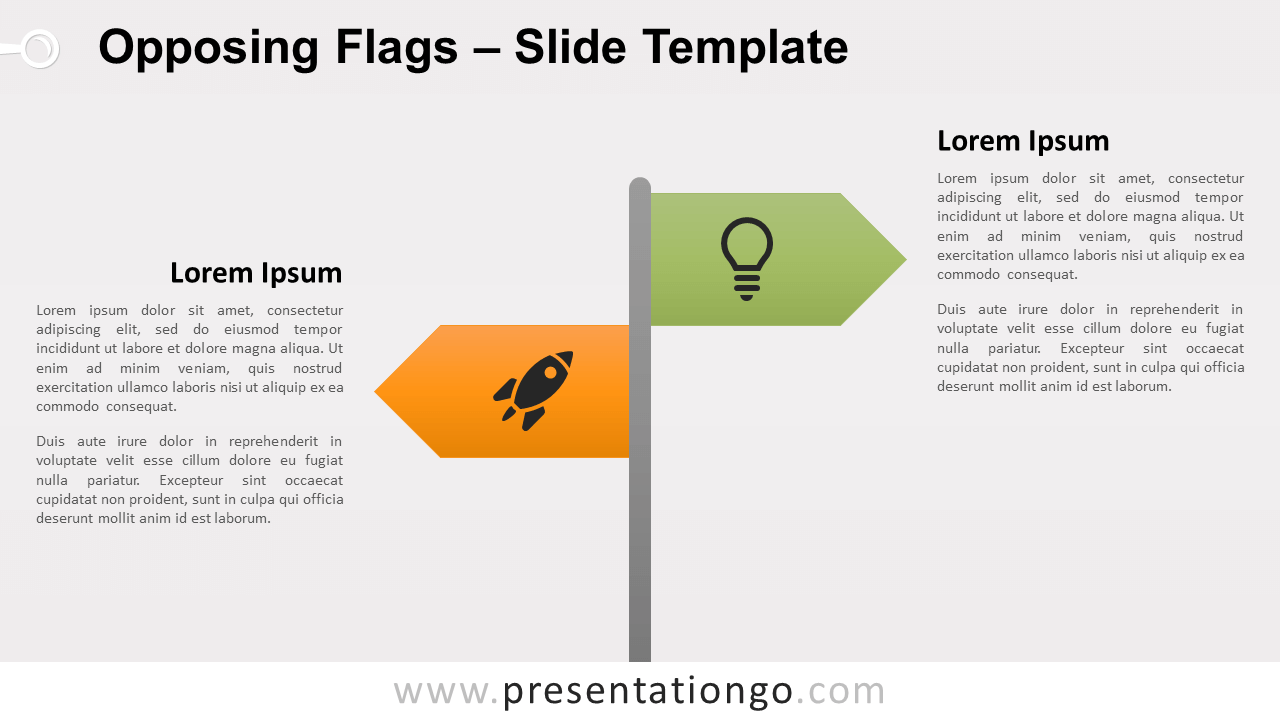 Free Opposing Flags for PowerPoint and Google Slides