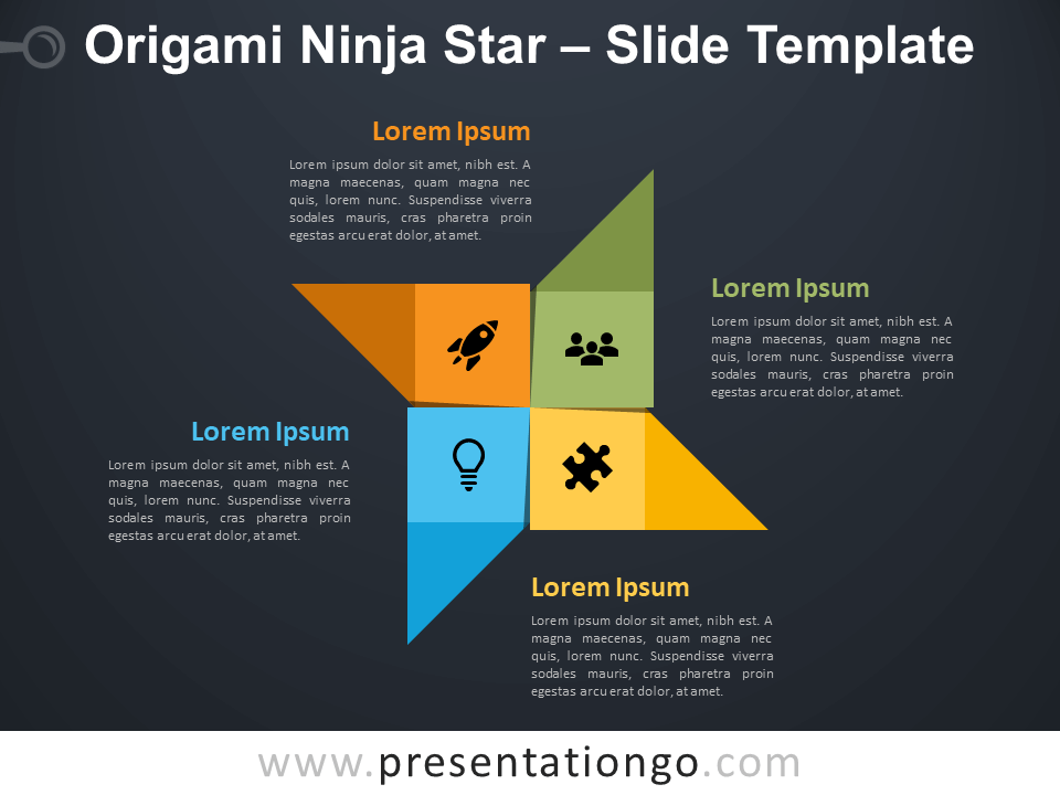 Free Origami Ninja Star Diagram for PowerPoint