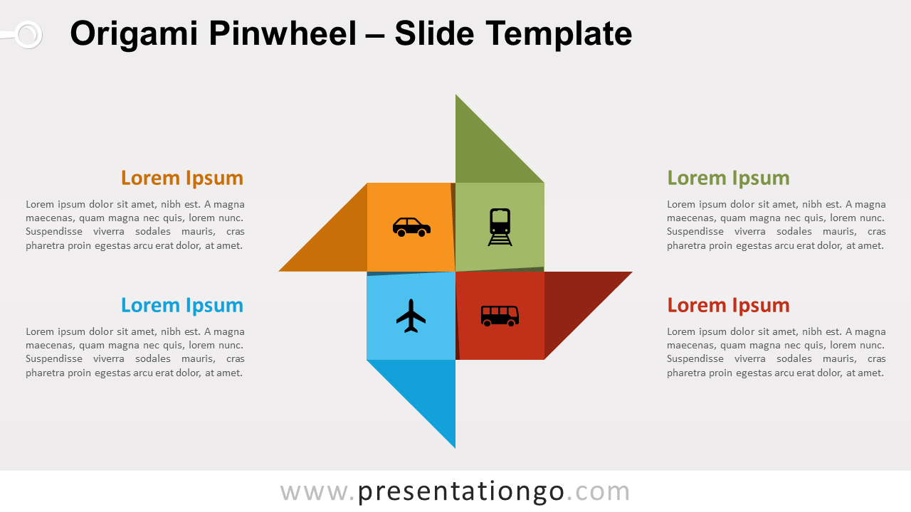 Free Origami Pinwheel for PowerPoint and Google Slides