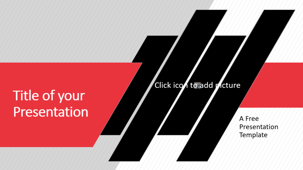 Free Stripes Template for Google Slides - Cover Slide