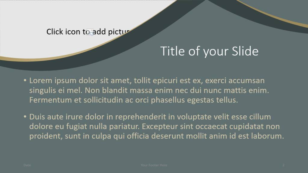 Free Eleganza Template for Google Slides – Title and Content Slide (Variant 1)