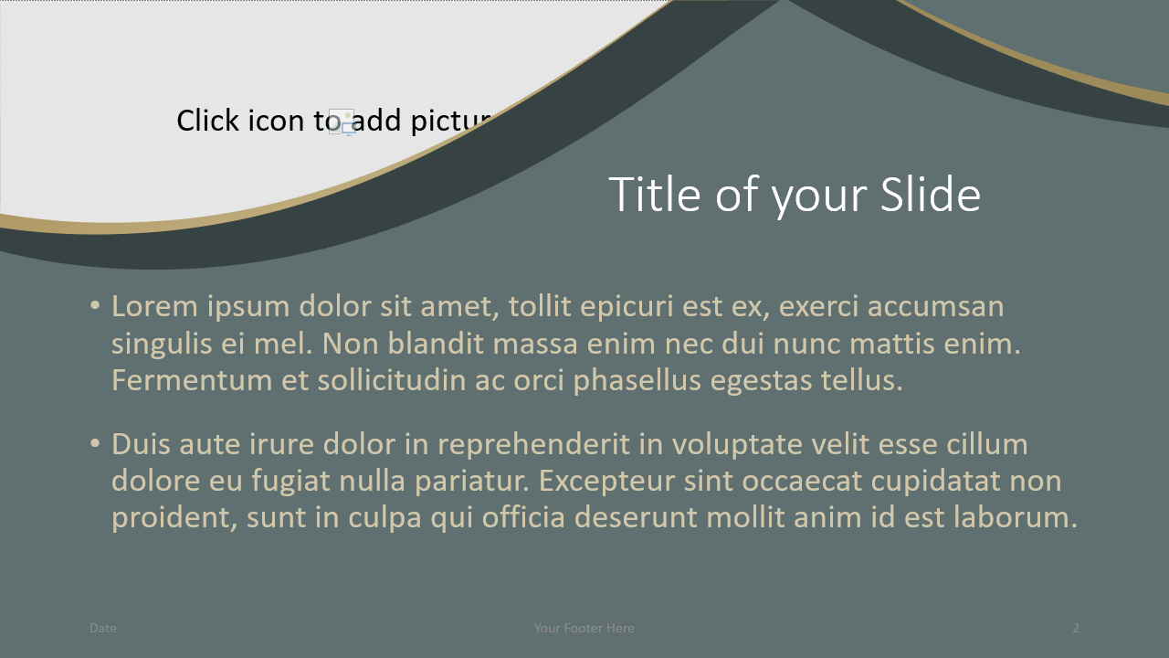 Free Eleganza Template for Google Slides – Title and Content Slide (Variant 1)