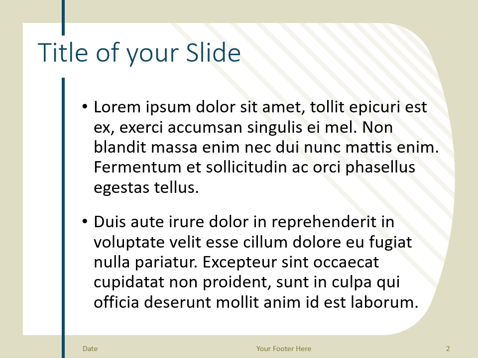 Free Imperial Template for PowerPoint – Title and Content Slide (Variant 1)