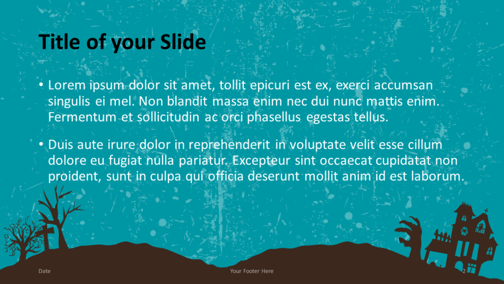Free SPOOKY Template for Google Slides – Title and Content Slide (Variant 1)