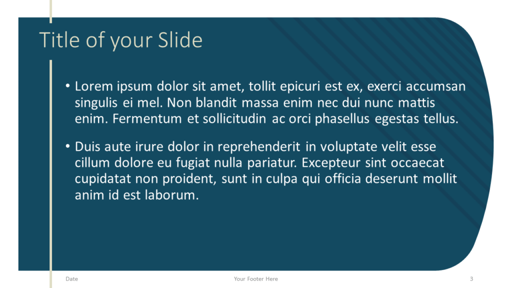 Free Imperial Template for Google Slides – Title and Content Slide (Variant 2)
