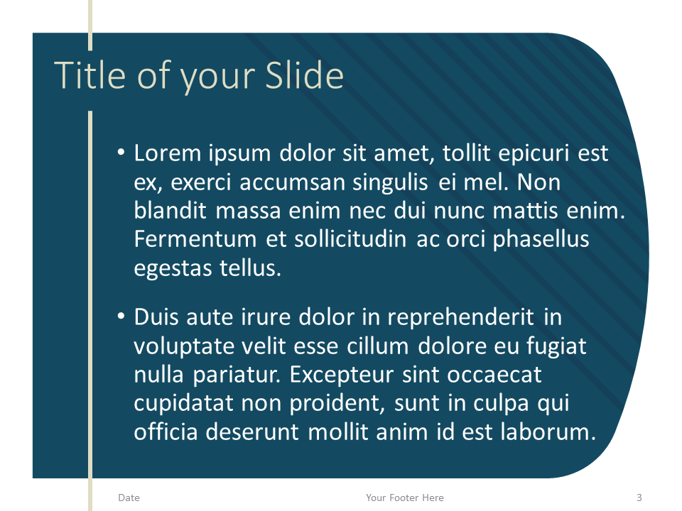 Free Imperial Template for PowerPoint – Title and Content (Variant 2)