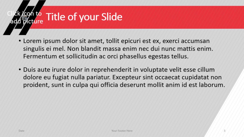 Free Stripes Template for Google Slides – Title and Content Slide (Variant 2)