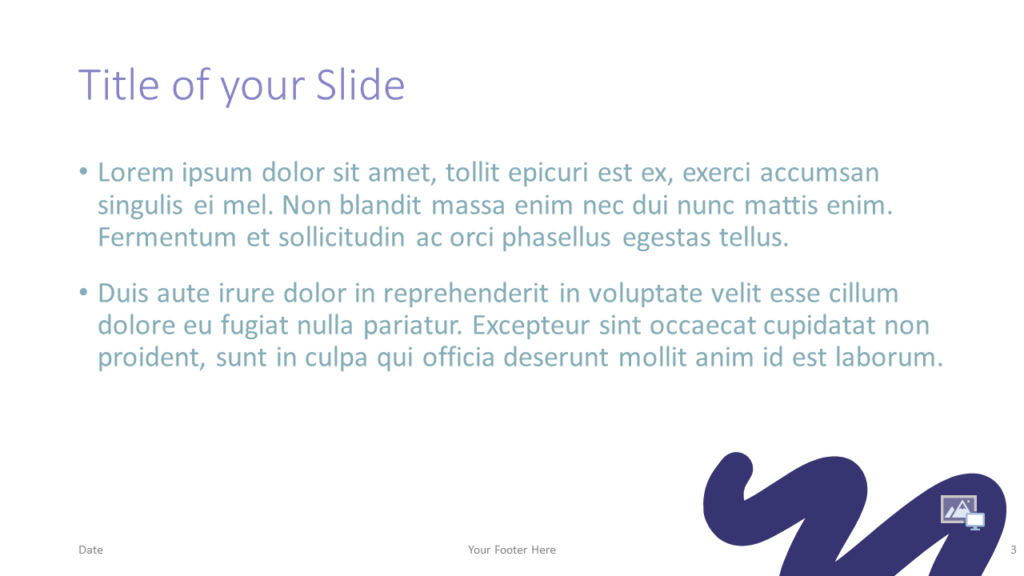 Free Strokes Template for Google Slides – Title and Content Slide (Variant 2)