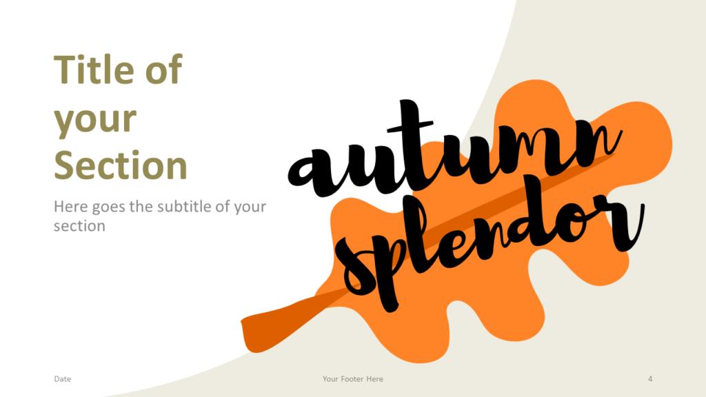 Free Fall Template for Google Slides – Section Slide (Variant 1)