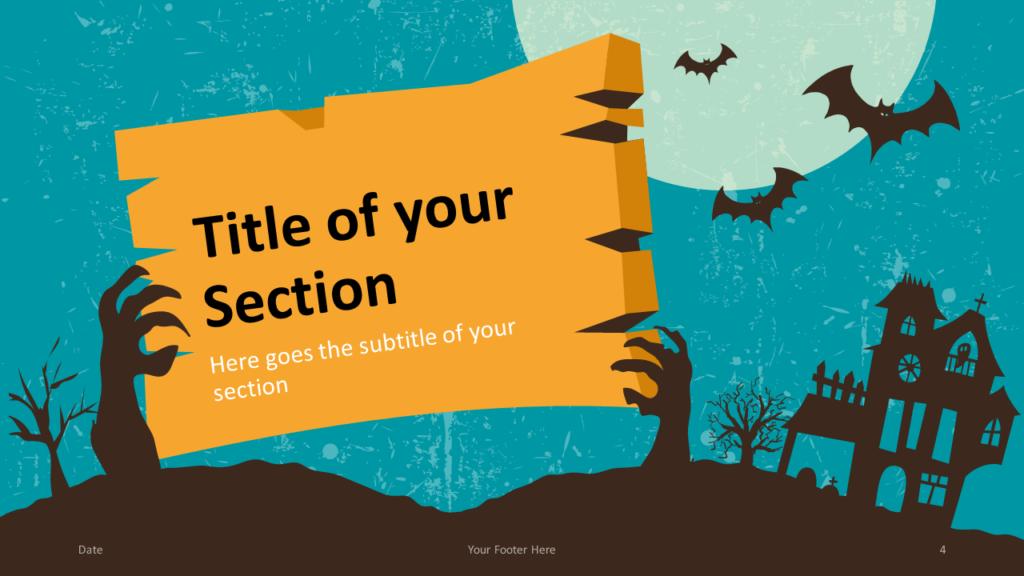 Free SPOOKY Template for Google Slides – Section Slide (Variant 1)