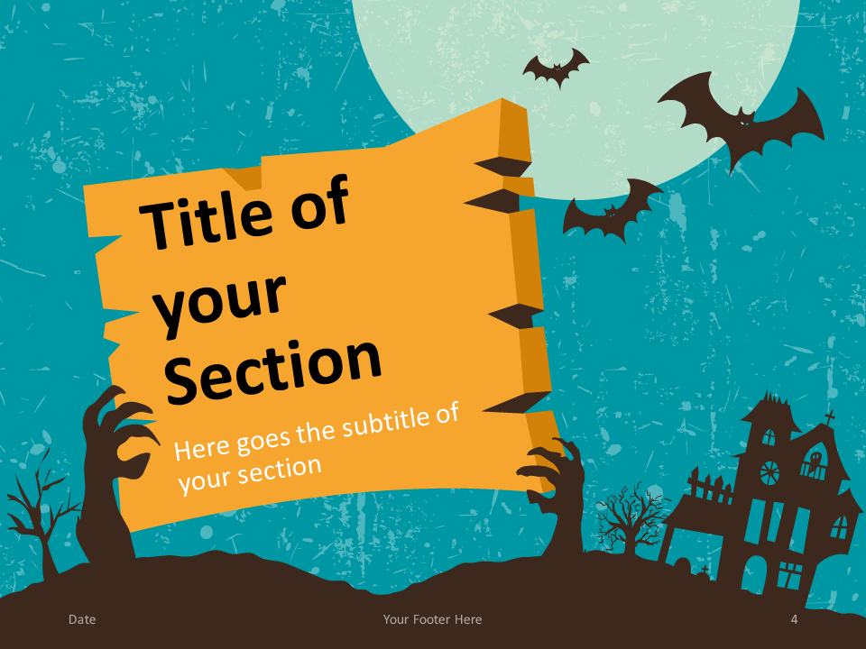 Free SPOOKY Template for PowerPoint – Section Slide (Variant 1)